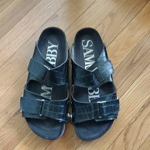 Sam & Libby black leather sandals, size 7